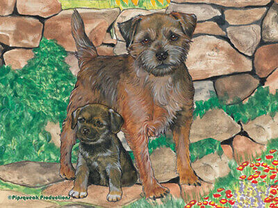 Border Terrier Large Cutting Board
