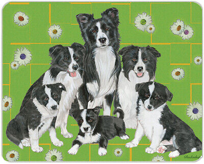 """Border Collie Cutting Board Tempered Glass 11.5 """" x 15.5"""""""