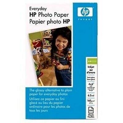 Genuine HP Everyday Photo Paper Semi-Gloss 4x6 100 Sheets Q5440A New Sealed Pack