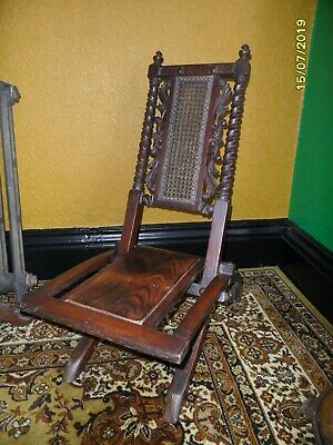19Th CENTURY FOLDING CARVED CAMPAIGN CHAIR