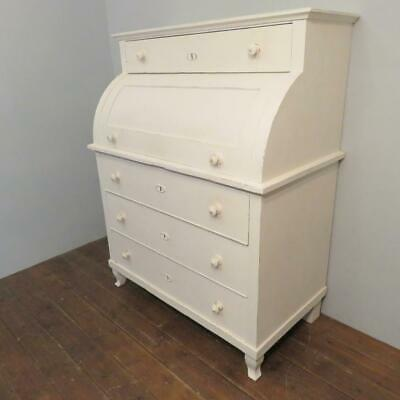Antique Scandinavian Rural Painted Pine Secretaire Bureau Writing Desk 1850