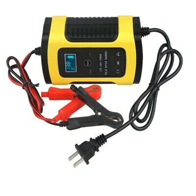 Car Battery Charger 110V To 220V To 12V 6A LCD for Auto Motorcycle Lead-Acid EN