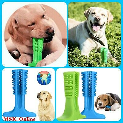 Dog Brushing Stick Chew Cleaning Teeth Toothbrush Pets Oral Care Training UK