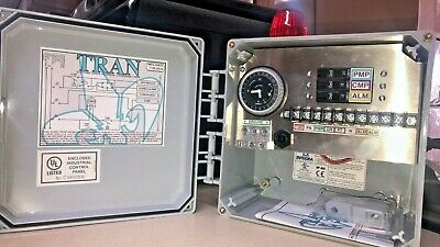 Tran T - 3 breaker control box with 24 hour timer with pump test