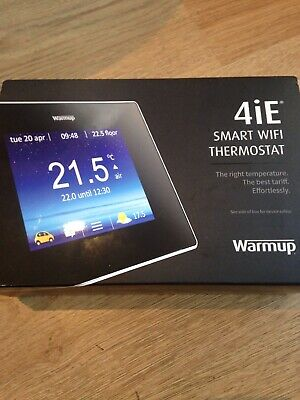 Warmup Smart Thermostat - 4iE, Touchscreen, Wi-Fi, Bright Porcelain - New in box