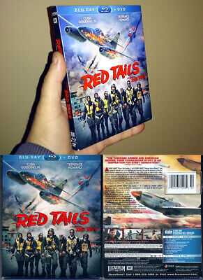 2-Disc Blu-ray+DVD Lucasfilm RED TAILS w/ Embossed SLIPCOVER Cdn OOP Region A