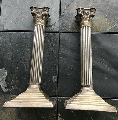 Circa 19th Century Pair of Brass Candle Holders