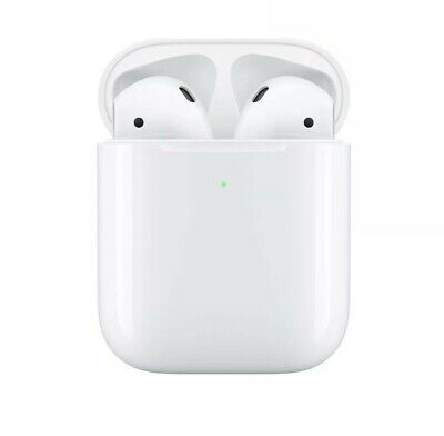 NIB Apple AirPods 2nd Generation with Wireless Charging Case - White Bluetooth