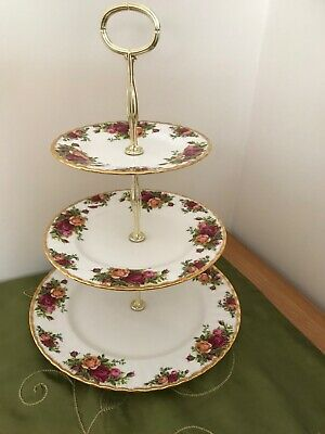 "Royal Albert ""Old Country Roses"" Ex. Large 3-tier cake stand ***PRICE REDUCED***"
