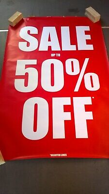 Seven Large  'Sale' Posters Shop Business Good Condition Free Uk Delivery