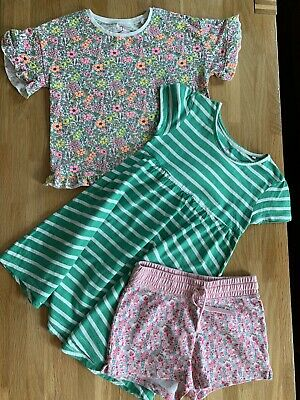Girls Next Summer Bundle Age 5-6 Dress Top And Shorts