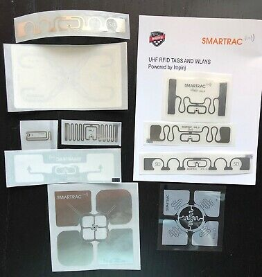 SMARTRAC 10 pcs - Sample Pack of UHF RFID Labels / Tags, Mixed Lot - Assortment