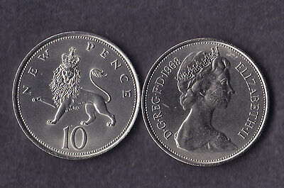 1968 10p Ten Pence Coin Uncirculated - From Royal Mint Set