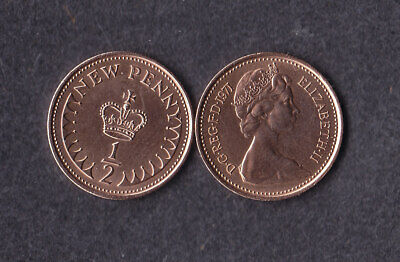 1971 1/2p Half New Penny Coin Uncirculated - From Royal Mint Set