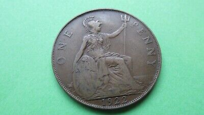 1922 George V 1d ONE PENNY Coin, Pre Decimal Circulated  (FREE P&P)