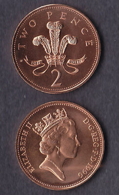 1996 2p Two Pence Coin Brilliant Uncirculated - From Royal Mint Set