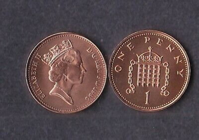 1996 1p One Pence Coin Brilliant Uncirculated - From Royal Mint Set