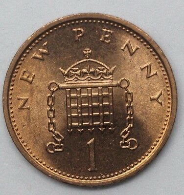 TEN x 1974 UNCIRCULATED  DECIMAL ONE PENNY - 1P COINS