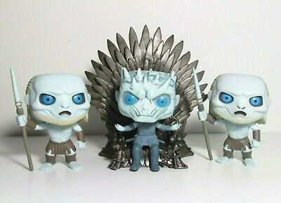 Night King On Iron Throne Funko Pop Lot X2 White Walker Guards Game Of Thrones