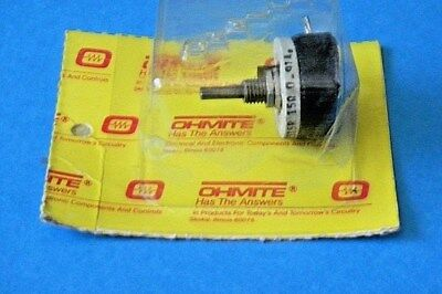 Ohmite RES15R Rheostat Potentiometer Wirewound 12 1/2W 15 Ohm 091A Model E NOS