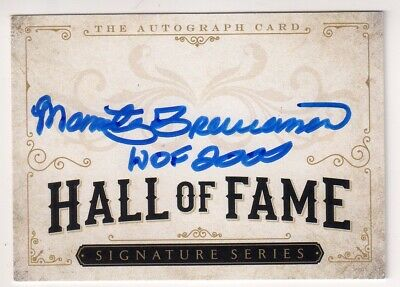 MARTY BRENNAMAN Signed Hall of Fame HOF Signature Card - Autograph Auto Reds