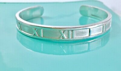 Tiffany & Co. Sterling Silver Small Atlas Cuff Bangle Bracelet 6.25in  190715D