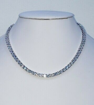 5 Mm Diamond Tennis Chain Vvs1 Crystals Best Quality 14 Kt White Gold Finish
