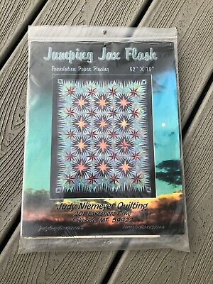 "Judy Niemeyer Foundation Quilting pattern JUMPING JAX FLASH 62"" x 75"" Quilt"