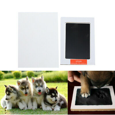 """3.74"""" Handprint Footprint Ink Pads Pet Paw New Babies 1Set Clean for Baby"""