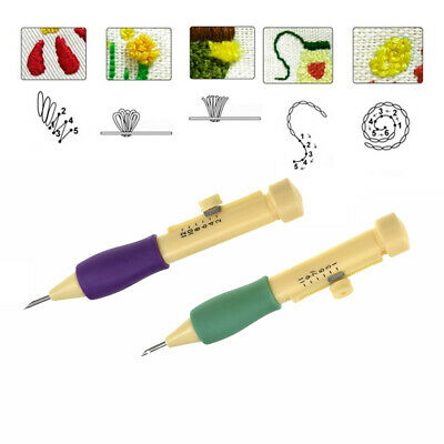 Cross Stitch Embroidery Pen Punch Needle Set Sewing Knitting Tools DIY Crafts