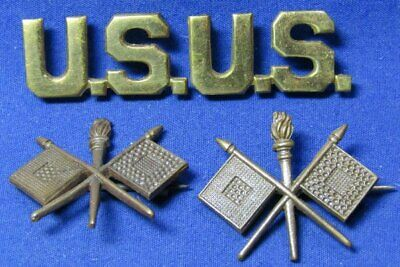 WWI British Made Army U.S. & Signal Officer Insignia Sets Lot Of 4 by Gaunt