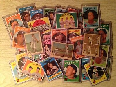 1959 VG Topps Boston Red Sox Complete Team Set 36 cards +3 Fleer Ted Williams