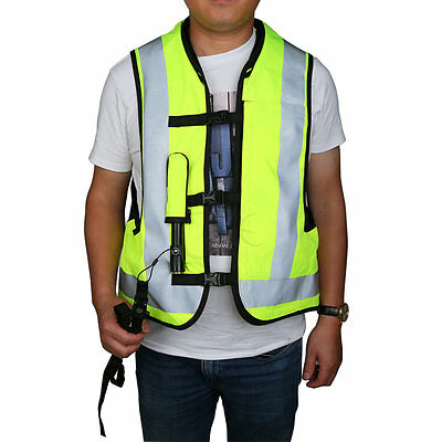 Motorcycle Air Bag Airnest Airbag Vest Hi Visibility Brand Fluorescent yellow