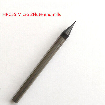 """TAPERED 4 FLUTE MICRO CARBIDE ENDMILL .0173/"""" 1810-0173L100T 0.44mm"""