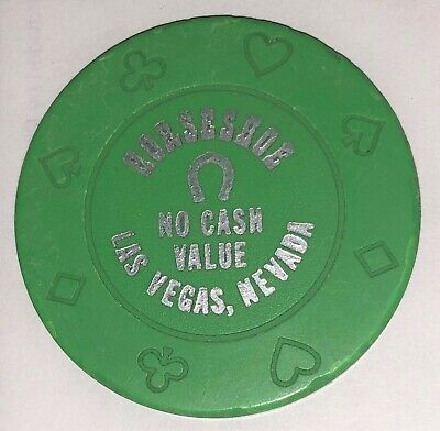 Horseshoe Casino Green No Cash Value Chip
