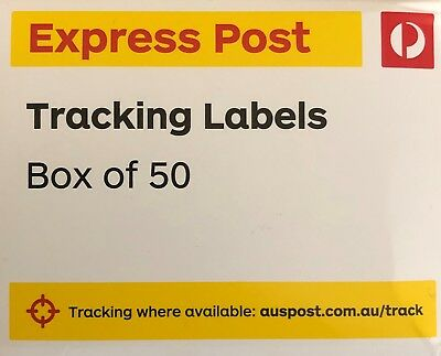 500 (10 Boxes) Australia Post Express Post Parcel Tracking Labels