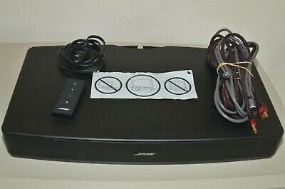 Bose Solo TV Sound System Speaker Model 410376 with Remote & Cable
