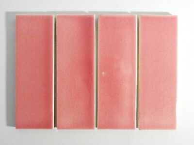 Antique Set of 4 Four Original England Tile Washstand Wash Stand Art Deco Pink