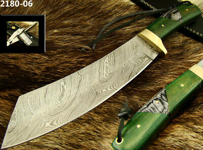 Alistar Superb Handmade Damascus Steel Hunting/Bowie Knife With Sheath 2180-06