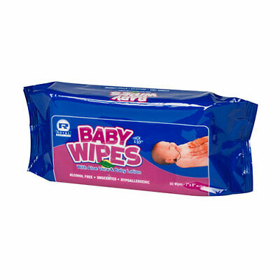 Royal Unscented Baby Wipes Refill, Case of 960, RPBWUR-80