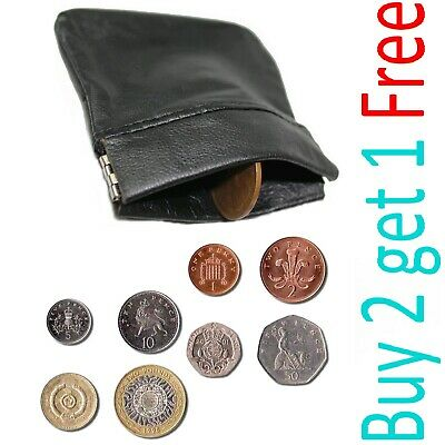 REAL LEATHER TRAY purse wallet change holder Mens Gents Womens Ladies NEW S COIN