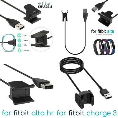 USB Charger Charging Cable Lead for Fitbit Alta HR Charge 3 2 Activity Wristband