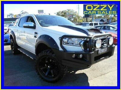 2015 Ford Ranger PX MkII XLT 3.2 (4x4) White Automatic 6sp A Dual Cab Utility
