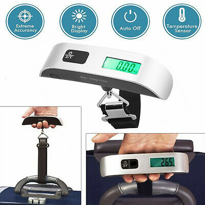 Portable Travel LCD Digital Hanging Luggage Scale Electronic Weighting 50kg 10g