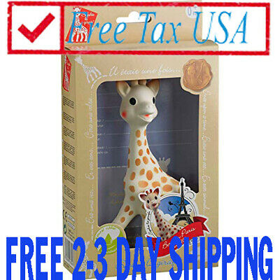 NEW, Sophie The Giraffe La Baby Natural Rubber Teether Pacifier Squeaker...