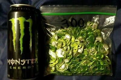 Lot of 300 Monster Energy Drink Soda Can Tabs~Unlock The Vault~Free Shipping