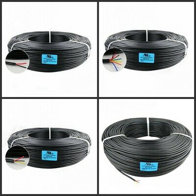 3.28ft x 10 Core UL2464 24 AWG Black Signal Jacket Cable Sheathed Motor Wire