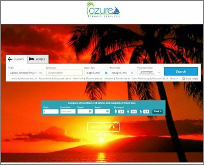 Website|TRAVEL AGENCY Website|Over £208 A SALE|FREE Domain|FREE Hosting|Traffic