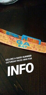 Hardsummer Tickets General Admission one day for Saturday