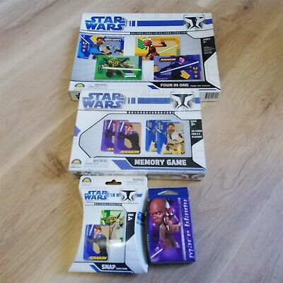 x4 Star Wars memory Game, Four in One, Snap Card Game, 50 Mini Puzzie